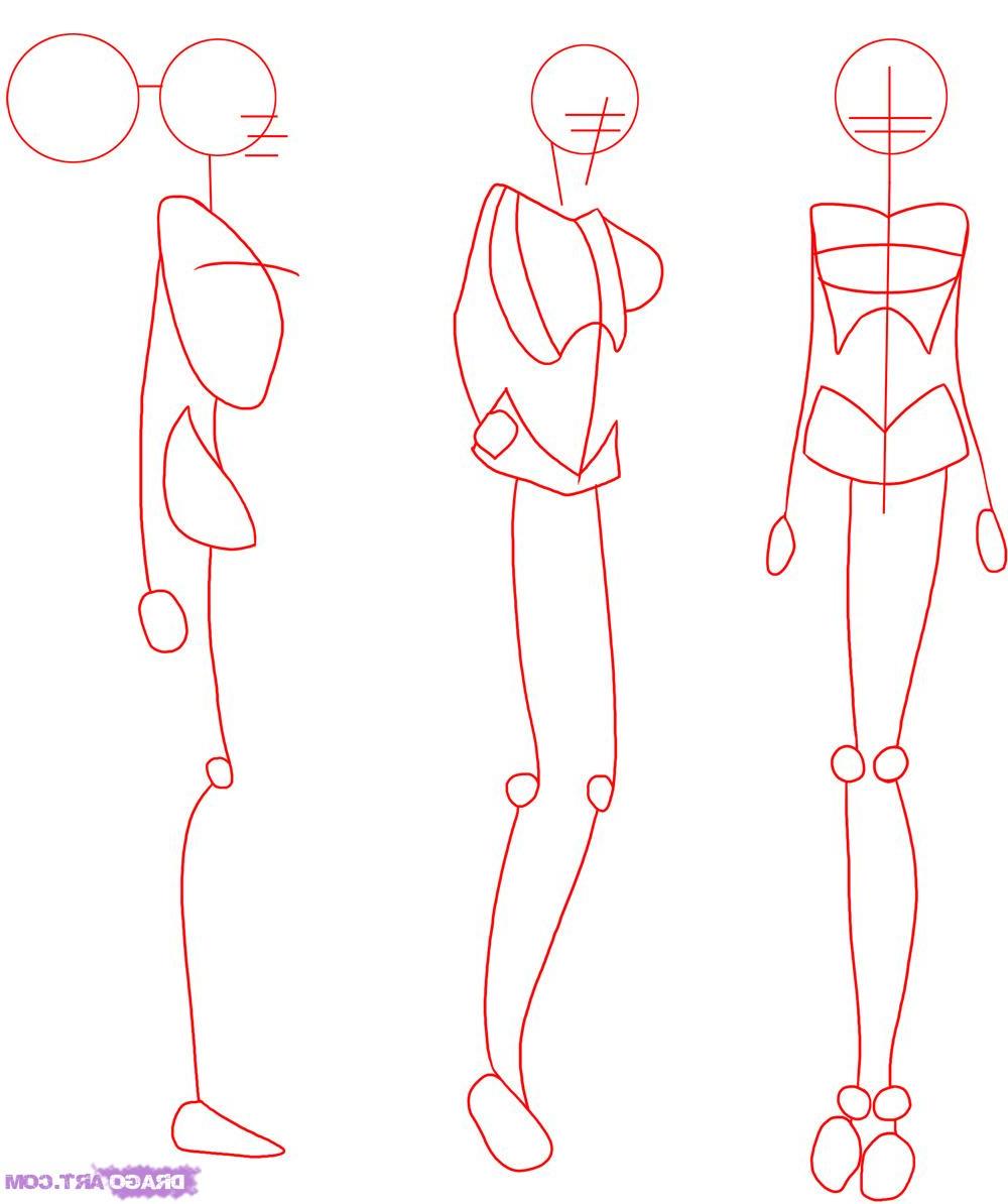 1000x1194 How To Draw Anime Female Bodies Draw Female Anime Body