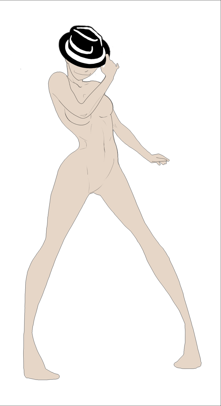 900x1655 Body Base Female Tipping Hat By Thealtimate