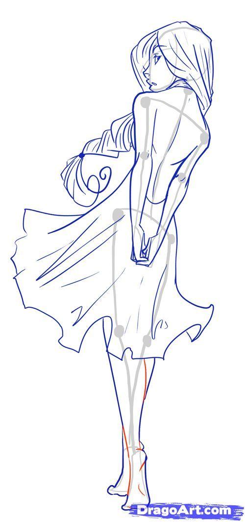 500x1065 How To Draw Female Figures, Draw Female Bodies, Step By Step