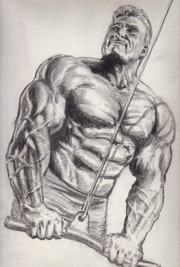 735x1086 Bodybuilder Sketch By Bonesdeviant