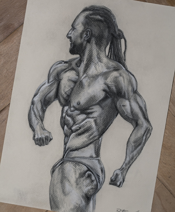 600x729 Bodybuilder Drawing By For As