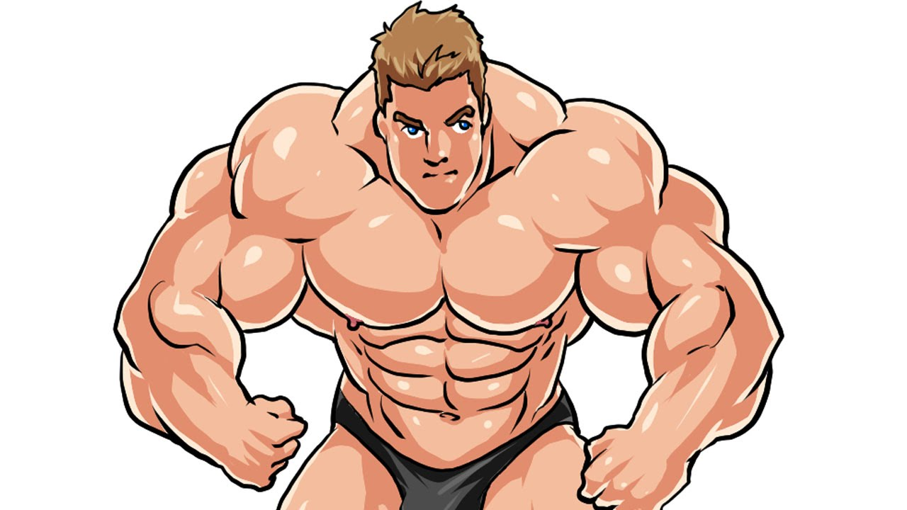 1280x720 How I Draw A Bodybuilder Manga Style Part 3 (Color) Complete
