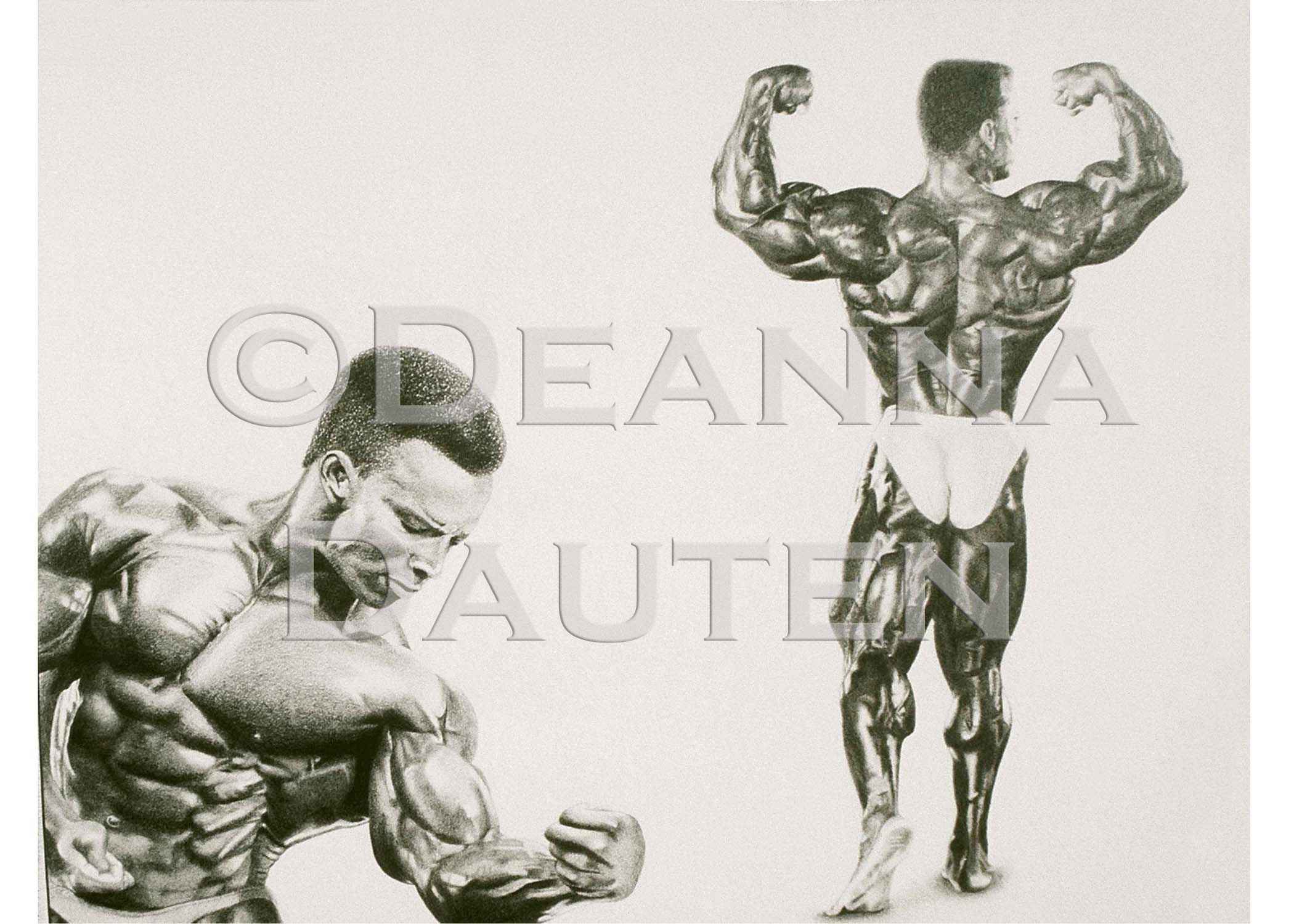 2100x1500 Pencil Drawing Bodybuilder Shawn Ray My Artwork