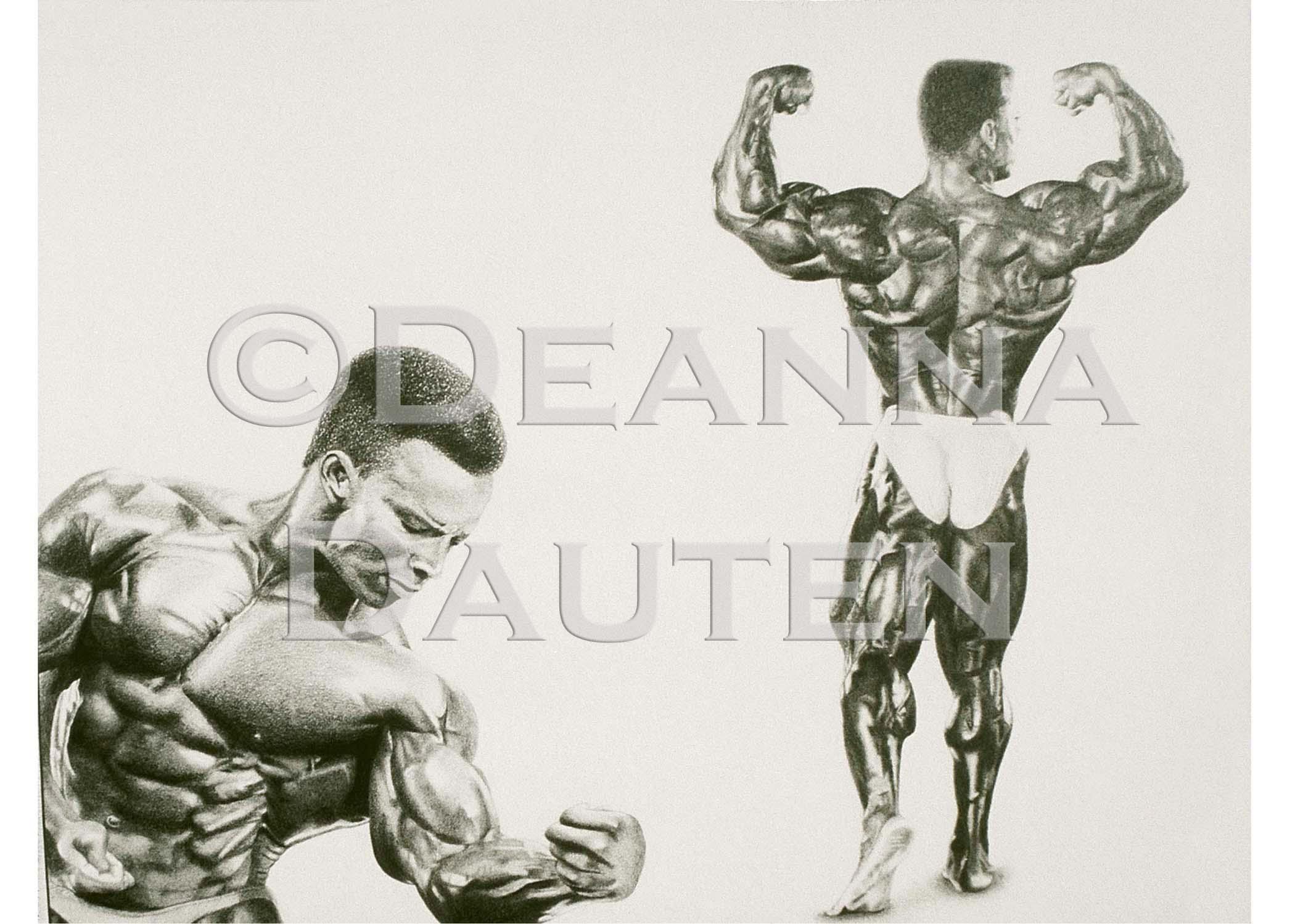 2100x1500 Pencil Drawing Bodybuilder Shawn Ray My Artwork