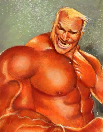 440x561 Perfect Bodybuilder Drawing