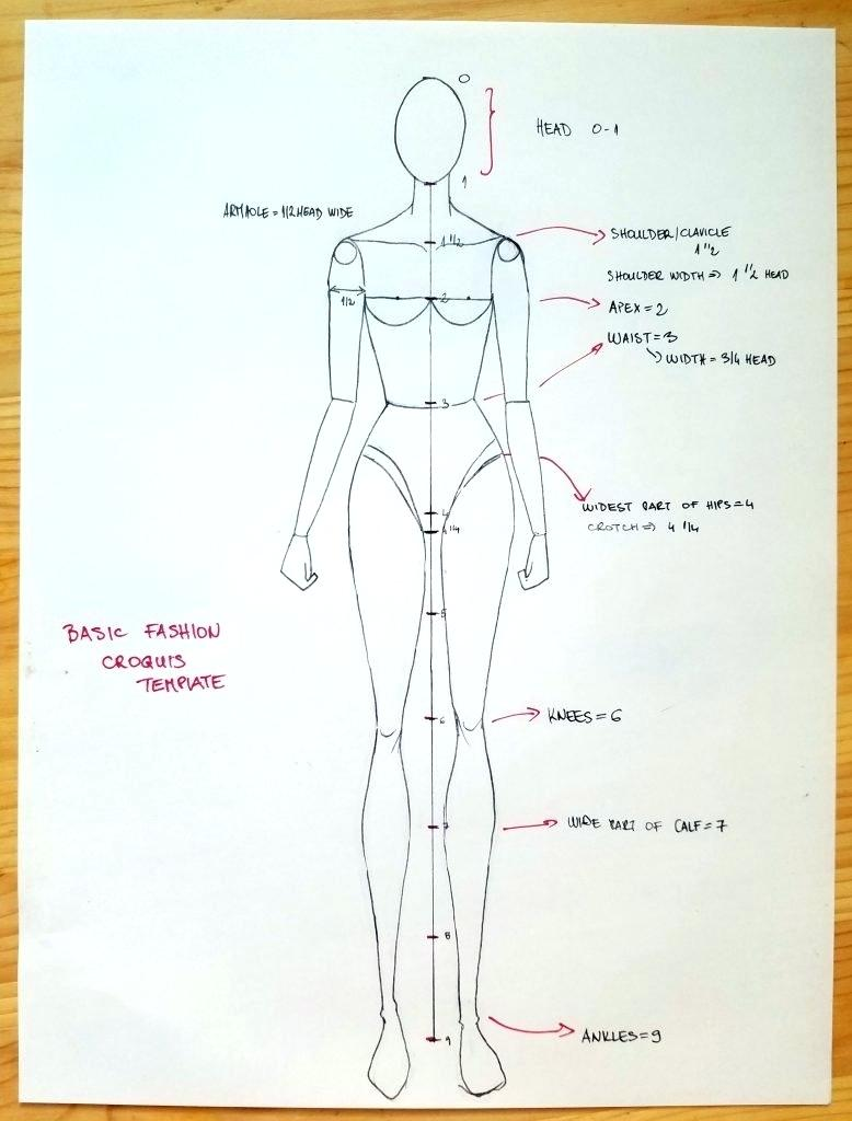778x1024 Body Drawing Template