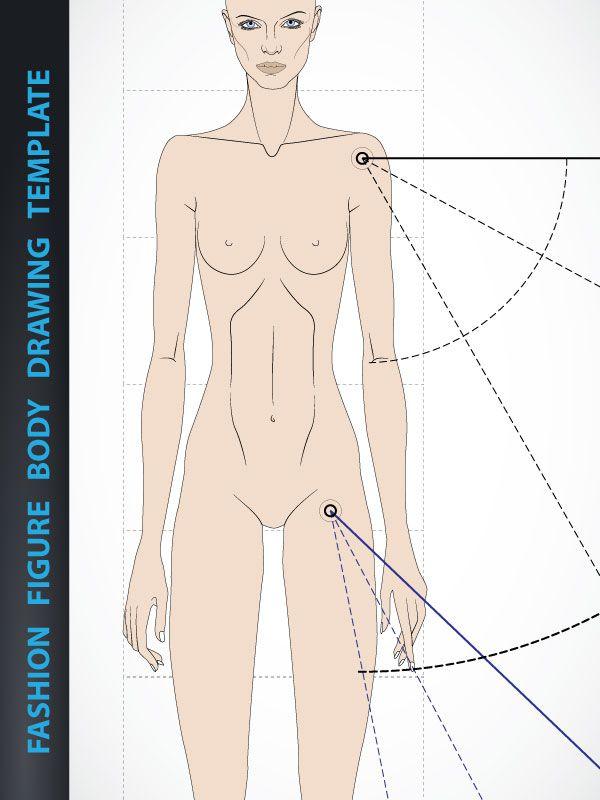 600x800 Fashion Figure Drawing Template