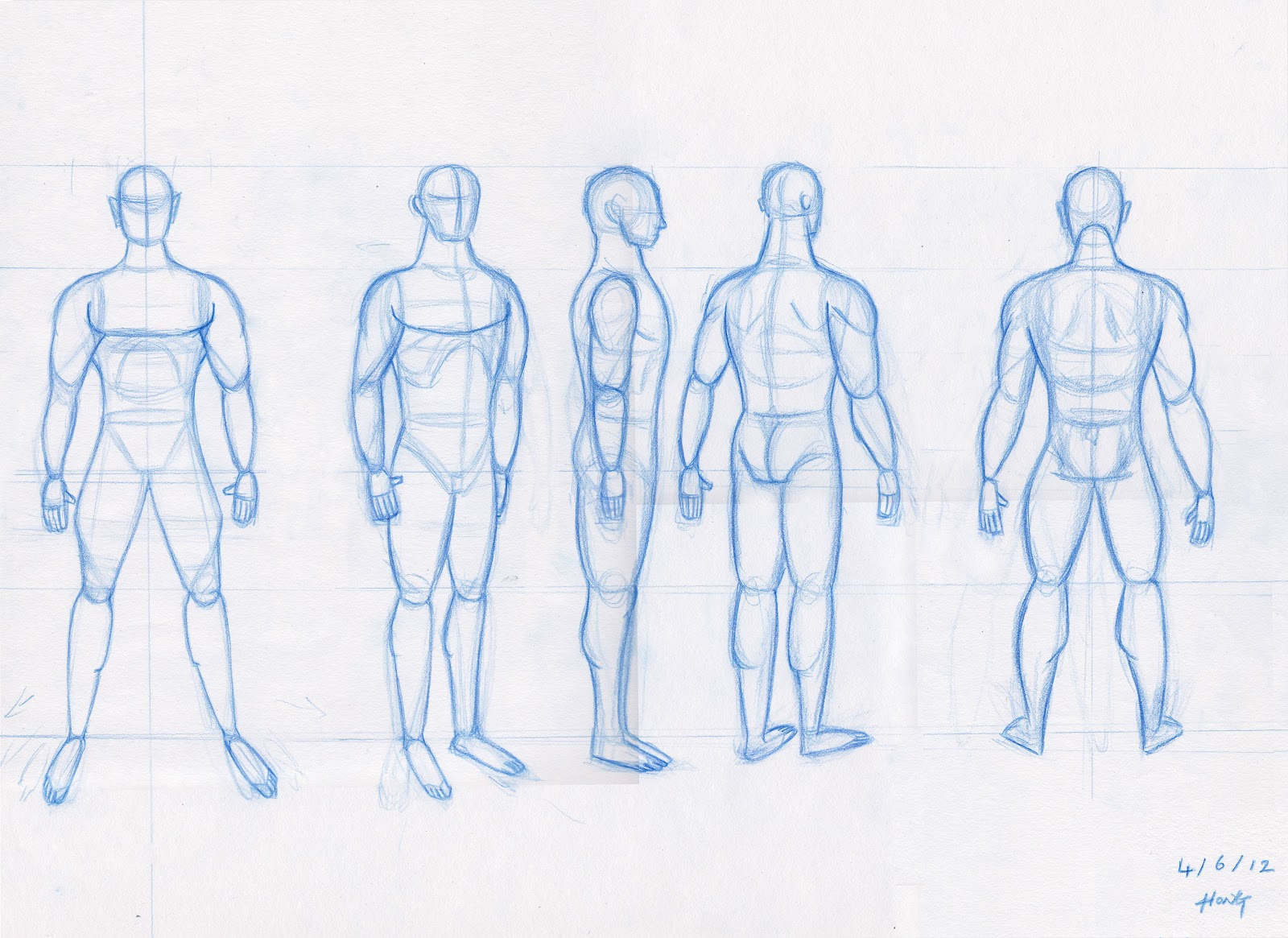 1600x1165 Male Body Drawing Template Male Body Rotation Concept Characters