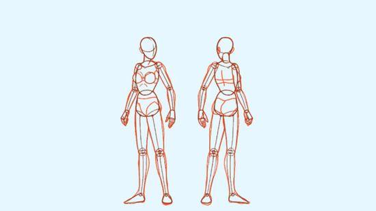 550x309 2 Easy Ways To Draw A Body