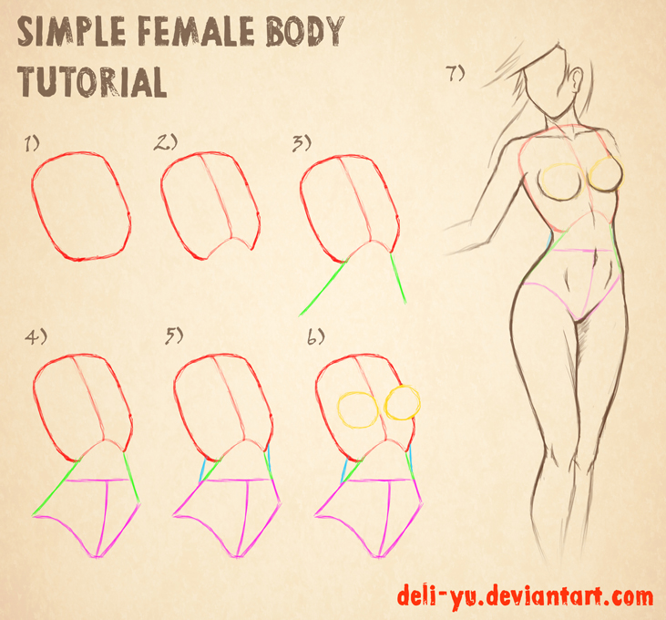 731x680 Simple Female Body Tutorial By Deli Yu