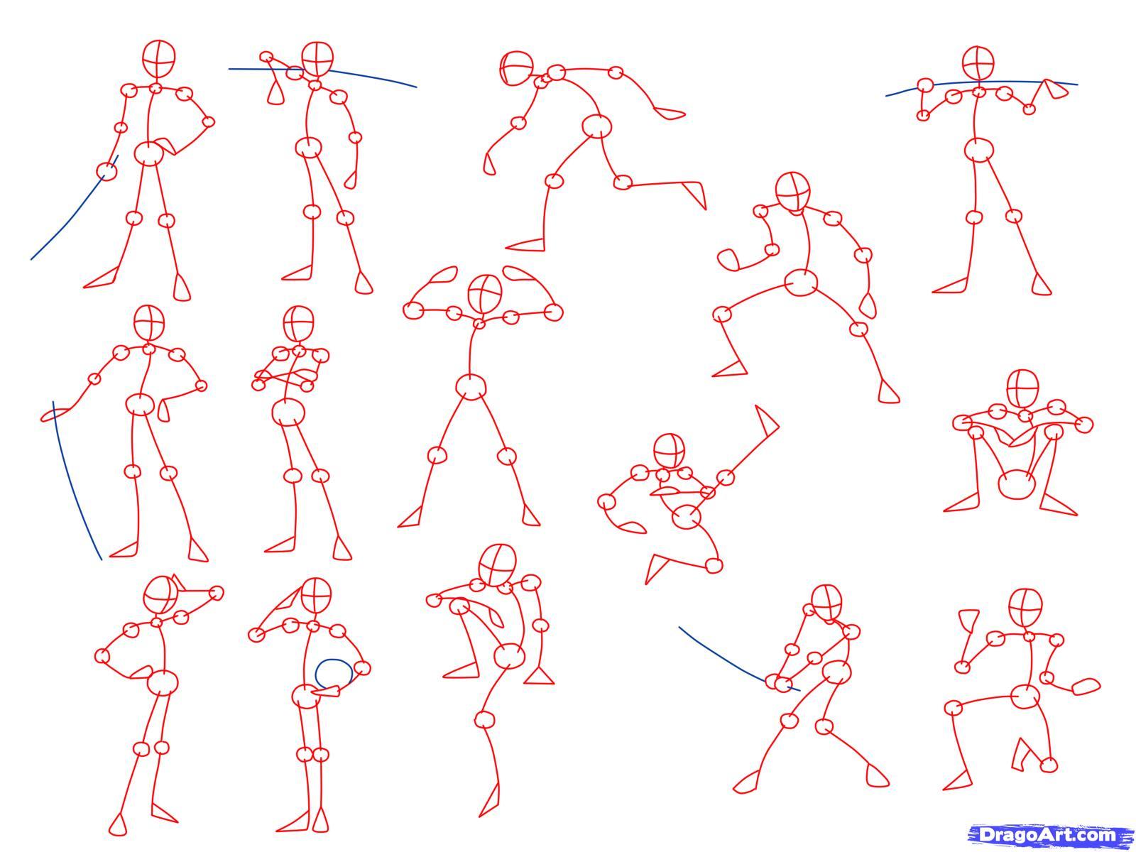 1600x1200 Anime Poses Drawing