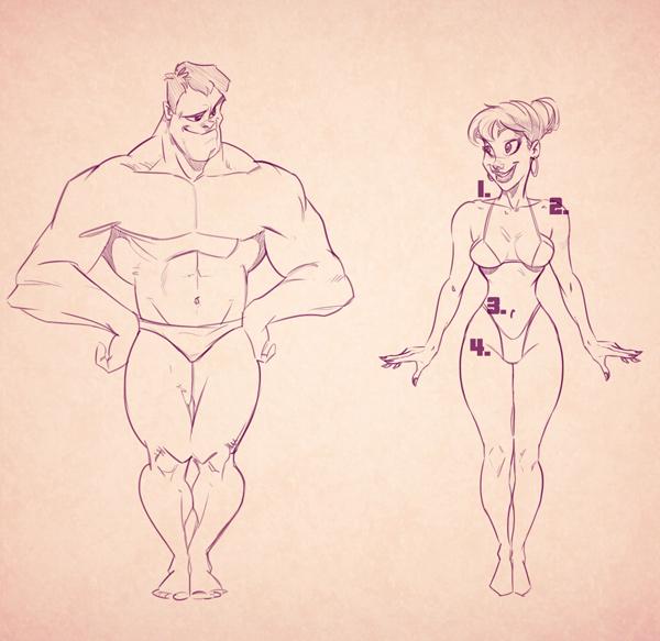 600x583 Cartoon Fundamentals How To Draw The Female Form