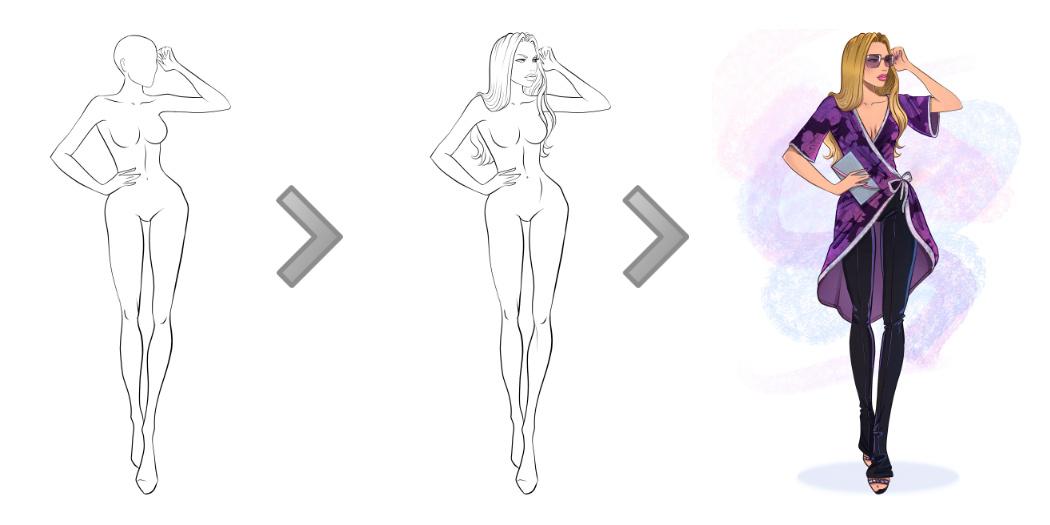 1050x525 Download Free Fashion Templates I Draw Fashion