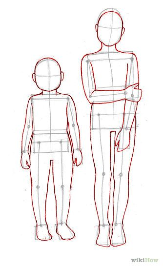 334x549 Draw Children Outlines, Child And Bodies