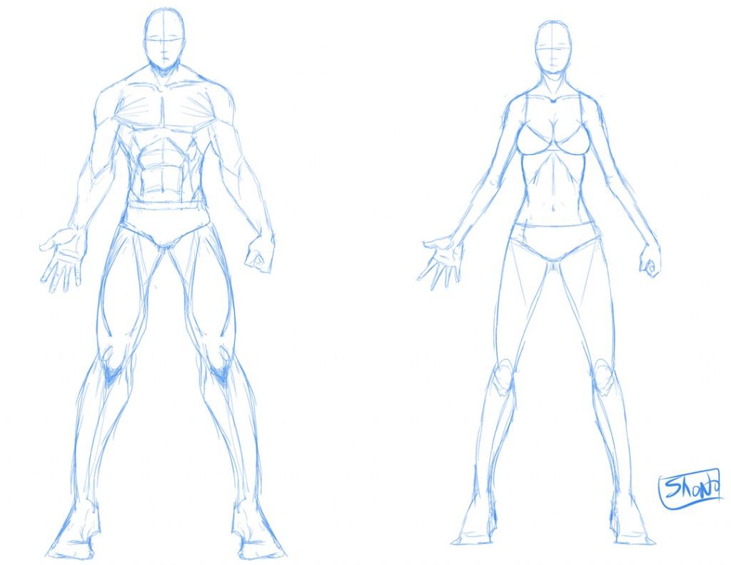 1024x791 Draw Male Armor