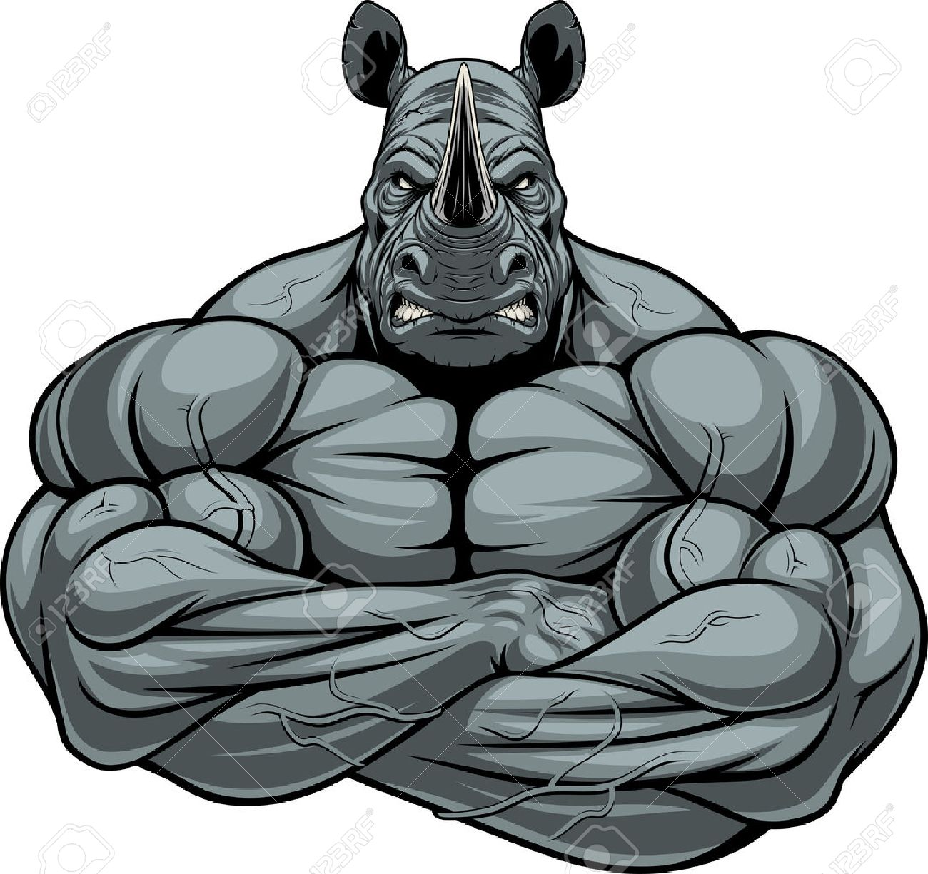bodybuilder drawing at getdrawings com free for personal rhinocéros clipart rhinoceros clipart black and white