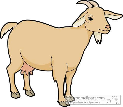 500x434 Goat Clipart To Download