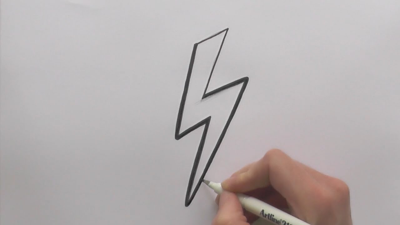 1280x720 Drawing A Lightning Bolt How To Draw A Cartoon Lightning Bolt