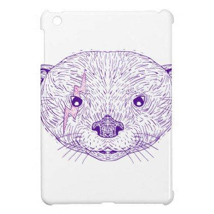 422x422 Otter Head Lightning Bolt Drawing Ipad Mini Covers Lightning Bolt