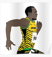 210x230 Usain Bolt Drawing Posters Redbubble