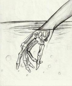 236x281 Hand Bones, Dip Pen And Ink. Amina Khan Character Design