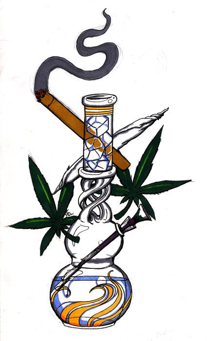 425x700 Cartoon Bong Drawings Request Bong By Melissadalton Ganja