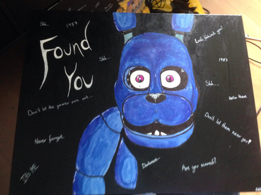 1024x768 Fnaf Bonnie Paintingdrawing By Irlcreations