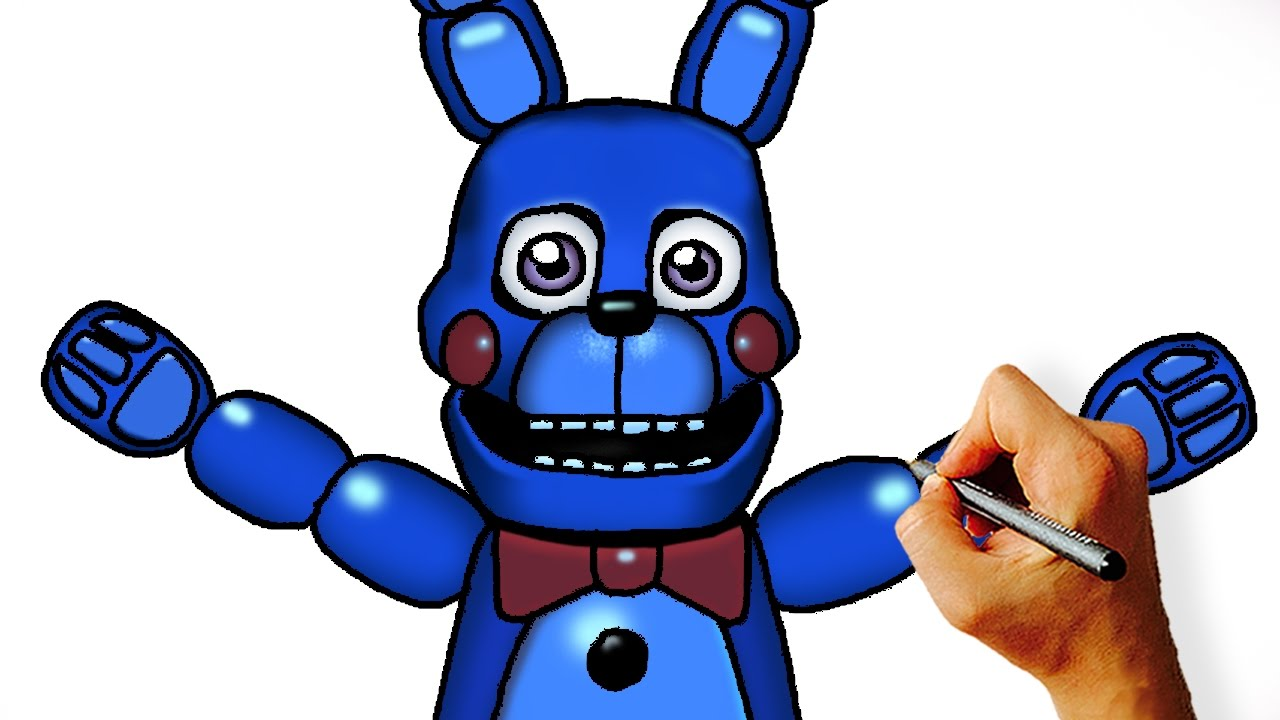 1280x720 How To Draw Bonnie Hand Puppet (Fnaf Sister Location)