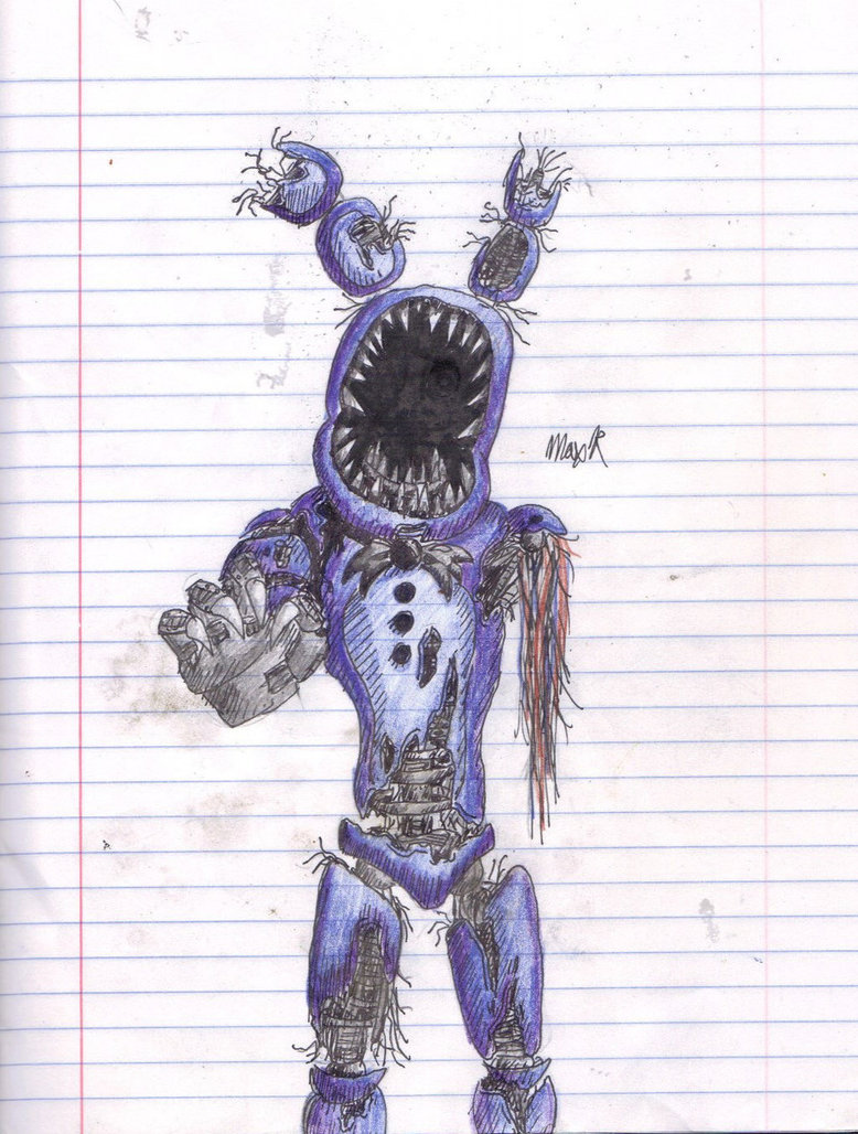 778x1028 Nightmare Withered Bonnie Drawing By Fazboggle