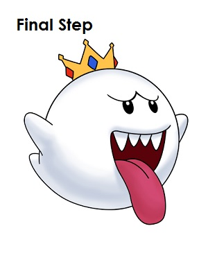 300x388 How To Draw King Boo