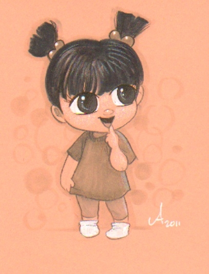 407x535 Original Cartoon Drawing Of Little Boo Our Little Boo