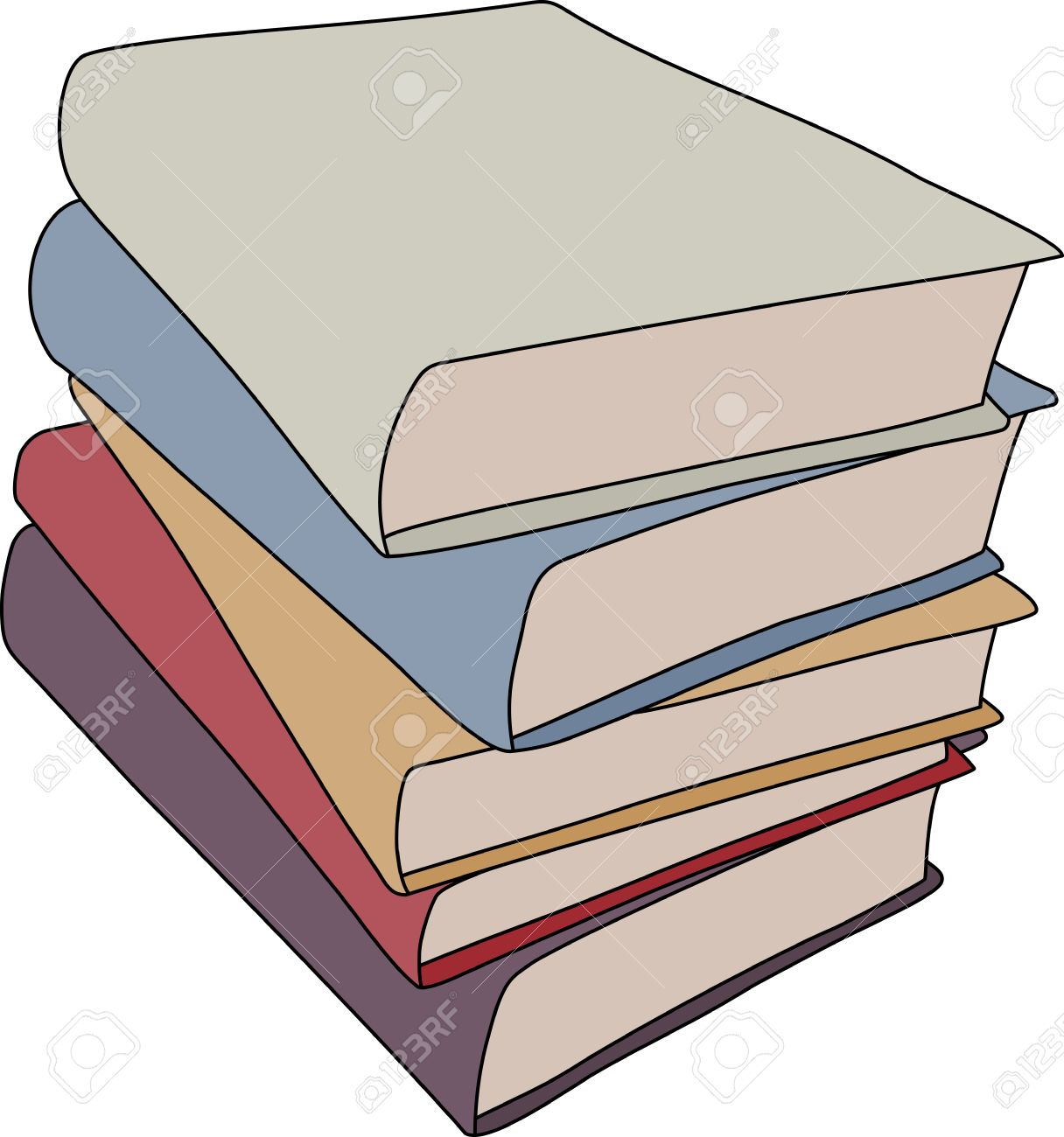 1216x1300 A Simple Cartoon Style Drawing Of A Stack Of Books. This File