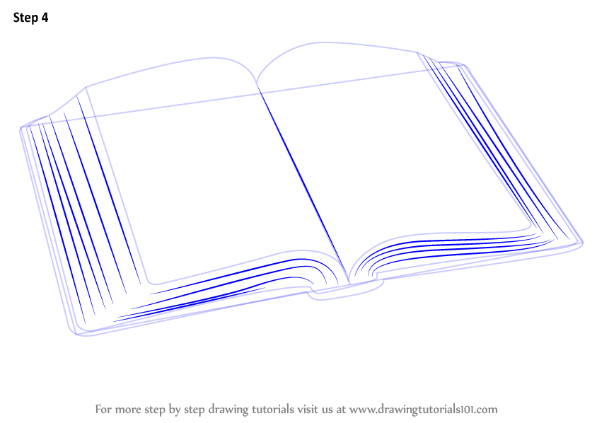 844x598 learn how to draw an open book everyday objects step by step