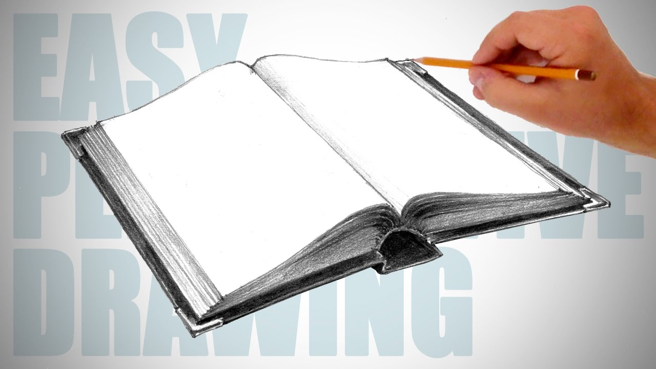 1280x720 How To Draw A Book