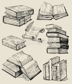 236x275 Drawings Of Books Set Of Old Books Drawings Pile Of Books Open