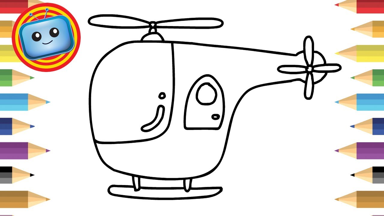 1280x720 How To Draw A Helicopter Colouring Book Simple Drawing Game