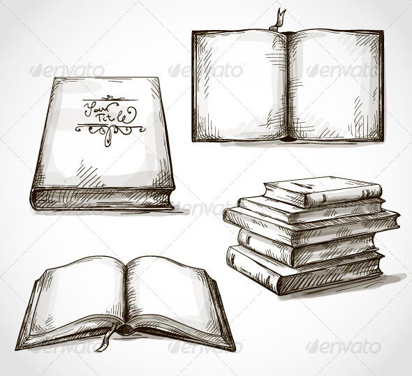 590x539 Drawings Of Books Sketch Open Book Icon Stock Vector Chuvilo