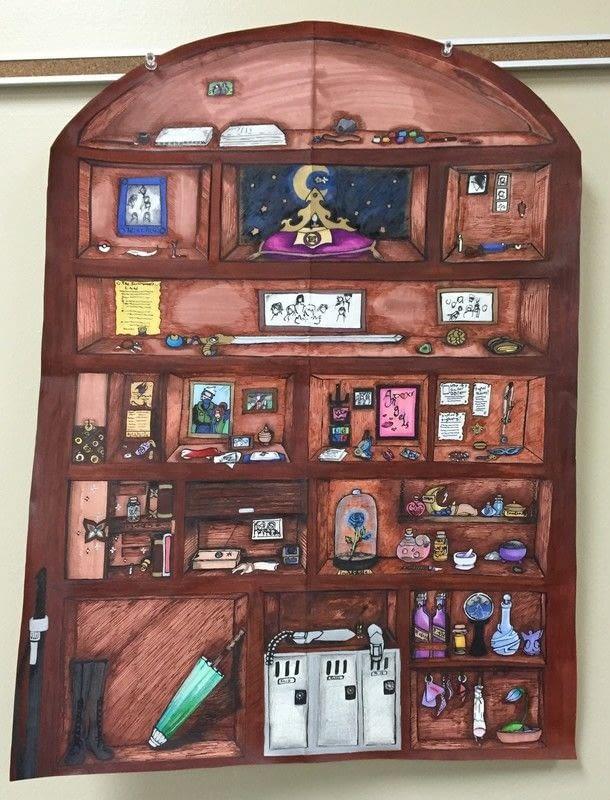 610x800 Dreamer's Bookshelf A Drawing Art On Cut Out + Keep Creation