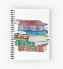 210x230 Book Stack Drawing Spiral Notebooks Redbubble