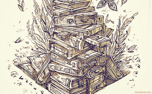 500x308 Gallery For Gt Stack Of Books Drawing Tumblr Still Life Ideas