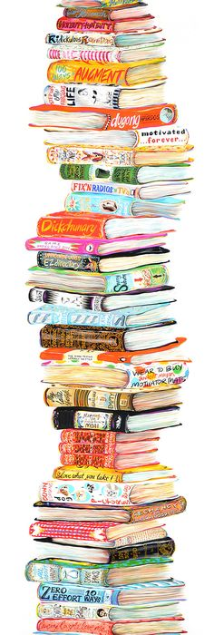 236x700 Stack Of Books By Ang Frank Home Decor Ideas Books