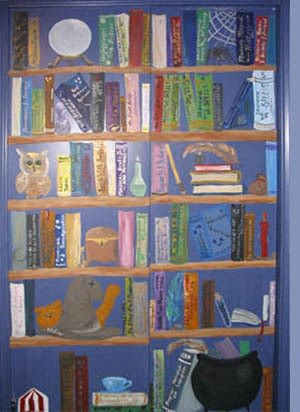 300x412 Magical Bookcase Mural How To Create A Drawing Or Painting