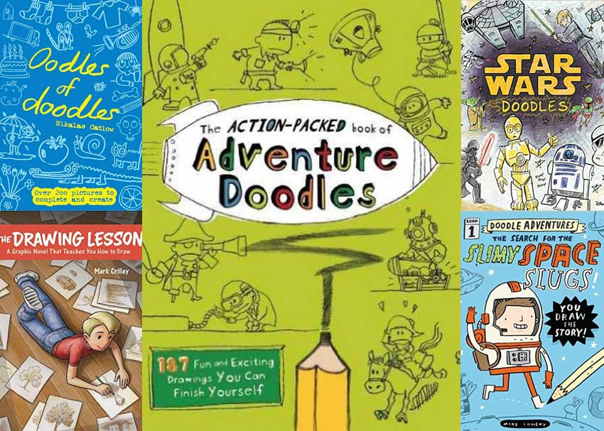 850x607 Dare To Doodle 6 Unconventional Drawing Books For Kids Brightly
