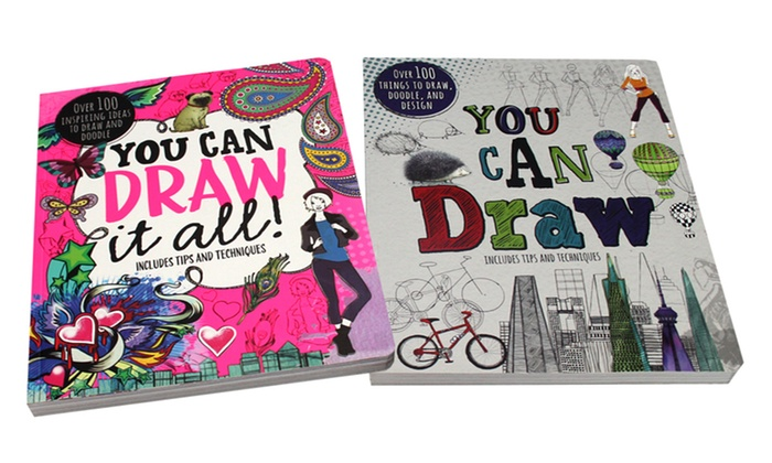700x420 Up To 42% Off On Drawing Books For Kids (2 Pack) Groupon Goods