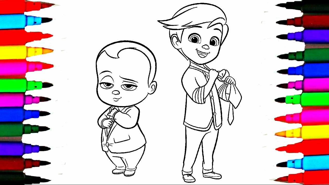 1280x720 Colours For Kids Boss Baby Coloring Pages L Dreamworks Drawing