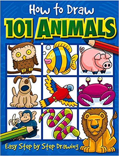 383x499 How To Draw 101 Animals Dan Green 9781842297407 Books