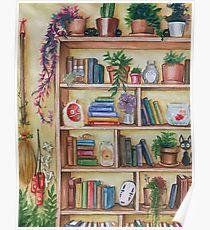 210x230 Bookshelf Drawing Posters Redbubble