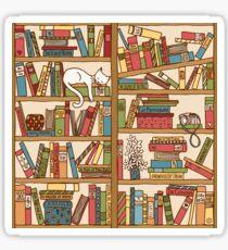 210x230 Bookshelf Drawing Stickers Redbubble