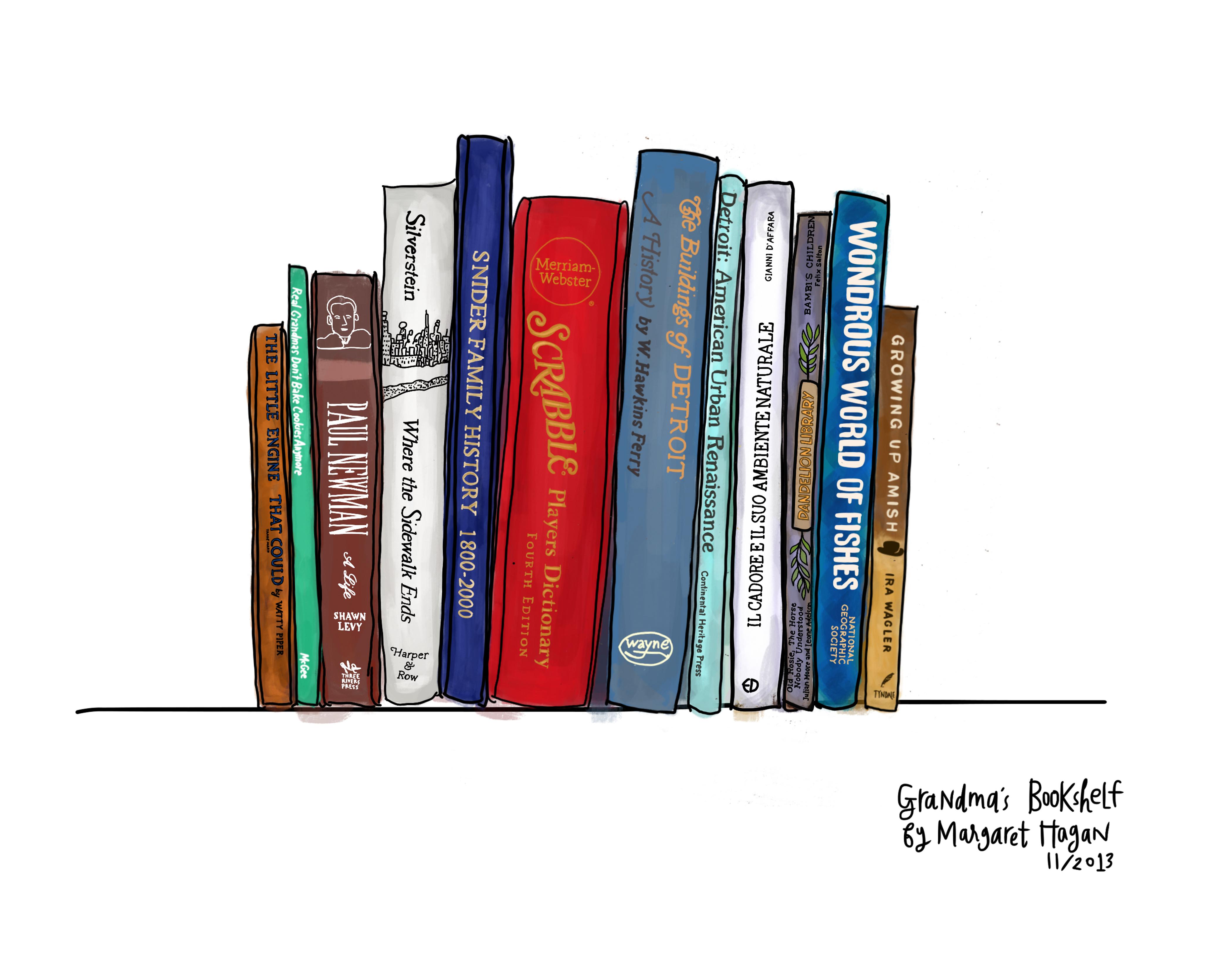 Bookshelf Drawing At GetDrawings