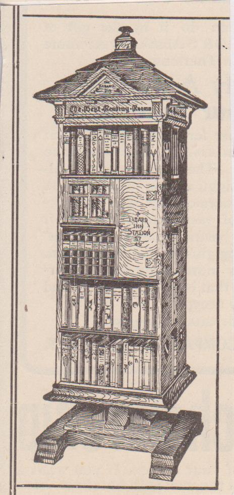 464x980 Vintage Early 1900's Clipart Drawing Of A Bookshelf